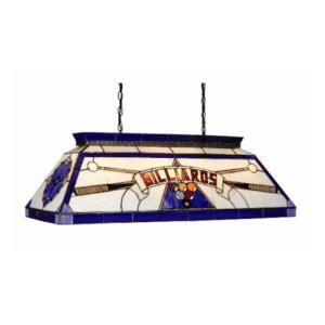 CF billiard blue Tiffany pool table lighting