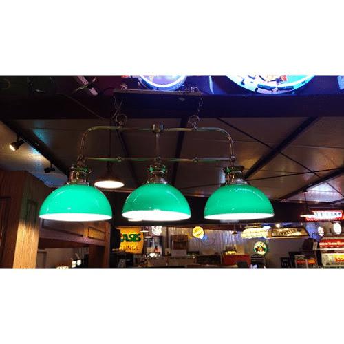 Green All-Glass Billiards Light