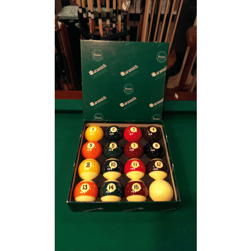 belgian premier pool ball set