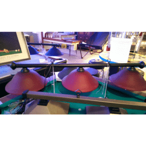 RAM burgundy glass pool table light