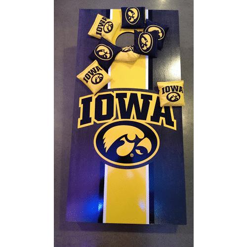 Victory Tailgate Iowa Hawkeye Cornhole Board and Bags